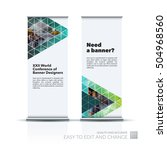 vector set of modern roll up... | Shutterstock .eps vector #504968560