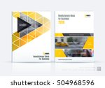 brochure template layout  cover ... | Shutterstock .eps vector #504968596