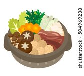 illustration of casserole | Shutterstock .eps vector #504969238