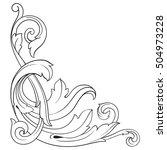 vintage baroque corner scroll... | Shutterstock .eps vector #504973228