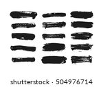 hand drawn grunge paint element ... | Shutterstock .eps vector #504976714
