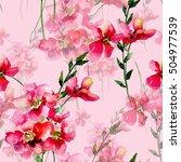 seamless pattern with original... | Shutterstock . vector #504977539