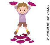 boy with a large potato | Shutterstock .eps vector #504978238
