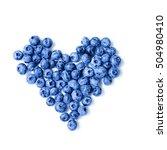 fresh sweet blueberry fruit.... | Shutterstock . vector #504980410