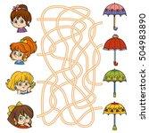 maze game for children. little...   Shutterstock .eps vector #504983890
