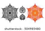 vector mandala. ethnic mandala... | Shutterstock .eps vector #504985480