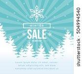 winter sale banner  poster ... | Shutterstock .eps vector #504994540