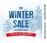 winter sale banner  poster ... | Shutterstock .eps vector #504994558