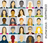 flat people icons  avatars ... | Shutterstock .eps vector #504996010