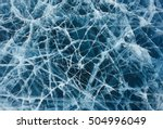 cracks in the ice of the lake... | Shutterstock . vector #504996049