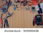 build a racing quadcopter spare ... | Shutterstock . vector #505000438