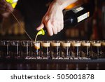 preparation of cocktails on a... | Shutterstock . vector #505001878