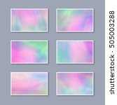set of pastel colorful business ... | Shutterstock .eps vector #505003288