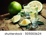 alcoholic cocktail with gin... | Shutterstock . vector #505003624
