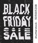 black friday sale glitch art... | Shutterstock . vector #505005208