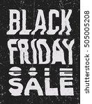 black friday sale glitch art... | Shutterstock . vector #505005208