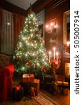 christmas evening by... | Shutterstock . vector #505007914