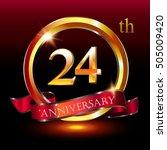 24th golden anniversary logo ... | Shutterstock .eps vector #505009420