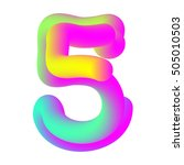 vector colorful volume number 5.... | Shutterstock .eps vector #505010503