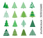 a set of images of a christmas...   Shutterstock .eps vector #505010680