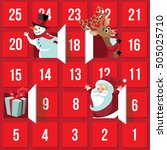 christmas advent calendar with... | Shutterstock .eps vector #505025710