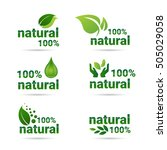 eco friendly organic natural... | Shutterstock .eps vector #505029058