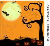 halloween illustration  ... | Shutterstock .eps vector #505037560