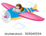 child flying in a plane | Shutterstock .eps vector #505040554