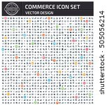 commerce icon set clean vector | Shutterstock .eps vector #505056214