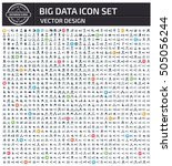 big data icon set clean vector | Shutterstock .eps vector #505056244