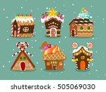 Six Cute Christmas Gingerbread...