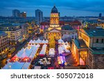 Stock photo christmas market deutscher dom and konzerthaus in berlin germany 505072018