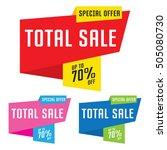 sale  discount  price cut... | Shutterstock .eps vector #505080730