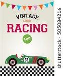 classic vintage racing car... | Shutterstock .eps vector #505084216