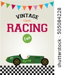 classic vintage racing car... | Shutterstock .eps vector #505084228