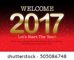 happy new year 2017 colorful... | Shutterstock .eps vector #505086748