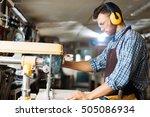 drilling in workshop | Shutterstock . vector #505086934