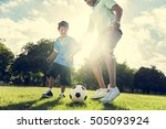 soccer football field father... | Shutterstock . vector #505093924