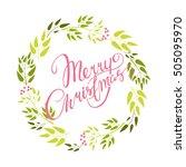 vector card. merry christmas.... | Shutterstock .eps vector #505095970