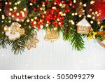 christmas background with... | Shutterstock . vector #505099279
