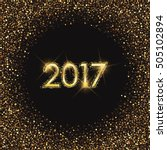 happy new year 2017 design with ... | Shutterstock .eps vector #505102894