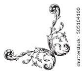 vintage baroque corner scroll... | Shutterstock .eps vector #505104100