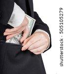 woman in business suit puts... | Shutterstock . vector #505105279