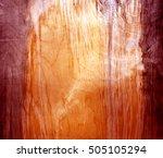 weathered red fiberboard...   Shutterstock . vector #505105294
