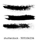vector brush strokes.set of... | Shutterstock .eps vector #505106236