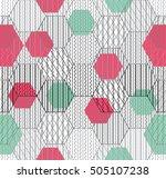 abstract hexagon pattern.... | Shutterstock .eps vector #505107238