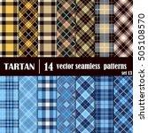 set tartan seamless pattern... | Shutterstock .eps vector #505108570