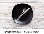 empty plate fork knife...   Shutterstock . vector #505114054