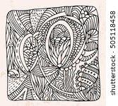 zentangle with decorative... | Shutterstock .eps vector #505118458