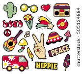 fashion hippie badges  patches  ... | Shutterstock .eps vector #505124884